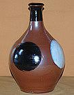 Antique Mashiko Japanese Ceramic Sake Tokkuri Jug