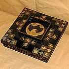 Antique Japanese Lacquered Maki-e Sweets Box c.1900