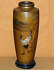 Signed Hotsuma Katori Japanese Antique Bronze Vase