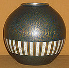 Japanese Antique Rare Egg Shell Cloisonne Vase