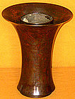 Japanese Antique Taisho Period Murashido Bronze Vase