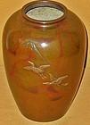 Signed Katori Hotsuma Antique Japanese Bronze Vase