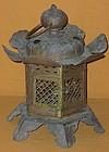 Antique Japanese Meiji Period Buddhist Temple Lantern