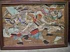 Antique Japanese Shinto Shrine Votive Painting On Wood