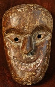 Nepalese Joker Mask from the Terai Region
