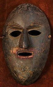 Nepalese Rai Tribe Mask with Red Pigment