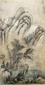 19th Century Korean Antique Landscape Painting