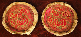 Oldest Korean Embroidery, Fine Peonies and Butterflies