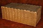 Old Large Bamboo Box covered with Paper