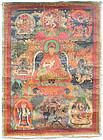 Rare 17th Century Tibetan Chakrasamvara Thangka