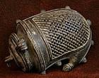 18th Century Bronze Indian Mango Purse
