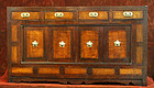 Rare and Fine Inlaid Burlwood Scholar's Chest (Mungap)
