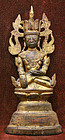 Fine Burmese Gilded Bronze Sakyamuni Buddha