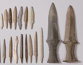 Very Rare Collection of Prehistoric Korean Swords, etc.