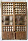 Rare Pair of Antique Korean Doors