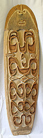 New Guinea Asmat Tribe War Shield