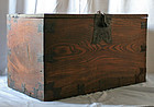 Extremely Rare 18th Century Korean Coin Chest (Donkwe) 6 sides Zelkova