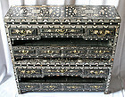 Very Rare Pair of Black Lacquer Mother-Of-Pearl Stationery Chests