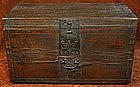 Paper on Wood Wedding Chest with Ironwork