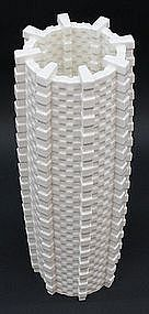 Porcelain Cube Tower Vase by Lee Min Kyu