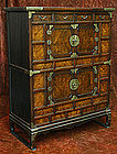 Rare 19th Century Burlwood Chest lined with Talismans