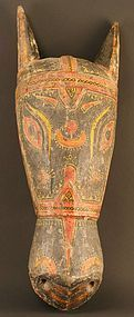 Large Indian Horse Head Festival Mask from Orissa