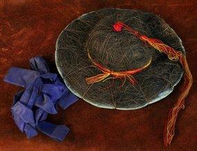 Rare Antique Korean Military Commander's Hat, Chonrip