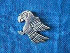 Old Taxco Rafael Melendez Pre-Columbian Parrot Brooch