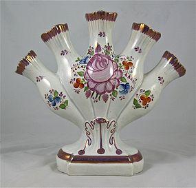 Flower Quintal Leeds Creamware