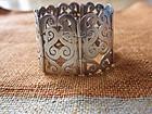 H. Santana Sterling Silver Pierced Mexican Bracelet