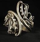 Early Los Ballesteros Taxco Silver Clamper Bracelet