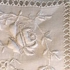Embroidered Edwardian Twin Bed Linen Sheets Pair