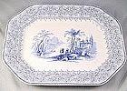 """Adams """"Genoa""""  B&w Romantic Transferware Platter"""