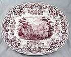 "Transferware Platter 'pomerania' 19"" Ridgway"