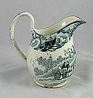 Salopian(?) Pearlware Cream Jug Rural Scene Ca. 1810