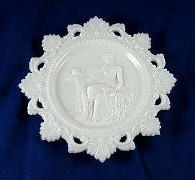 Milk Glass Cupid And Psyche Plate