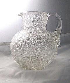 Sandwich Glass Overshot Pitcher Ca. 1845