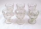 Ashburton Egg Cups Flint Glass Eapg Set 6