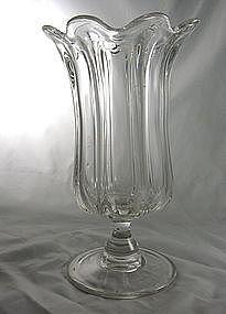 Flint Glass Pillar Molded Celery Pittsburgh(?)
