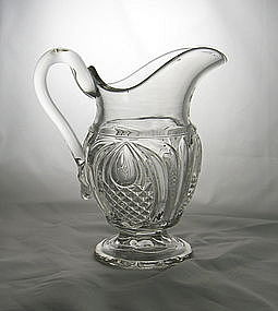 Flint New England Pineapple Creamer Ca. 1860