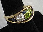 Retro 18k Designer Ring Shirley Lege Carpenter 1950