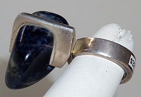 Jens Asby Denmark Enormous Stone Sterling Ring