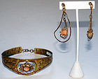 Pal Kepenyes Opal Necklace & Earrings Modernist Set