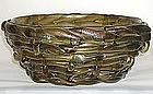 Important Napoleone Martinuzzi Monumental Basket Vase