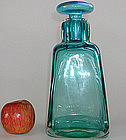 Large Venini Murano Acid Stamped Sommerso Decanter