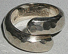 Important Sam Kramer Early Modernist 'Snake' Ring