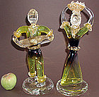 Fabulous Oversized Archimede Seguso Pair of Figurines