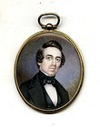Miniature American Painting of a Gentleman  c1840