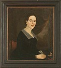 William Matthew Prior Folk Painting Young Woman c1838