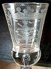 Armorial Goblet  Antique Wine Glass  c1740